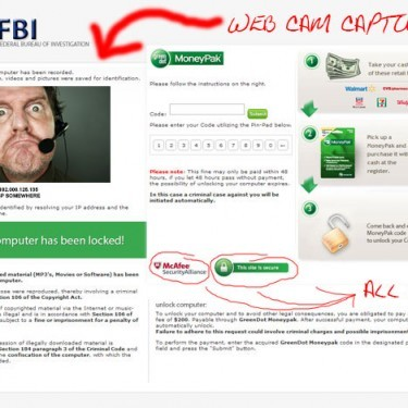 Picture of Moneypake, FBI Virus Ransomware