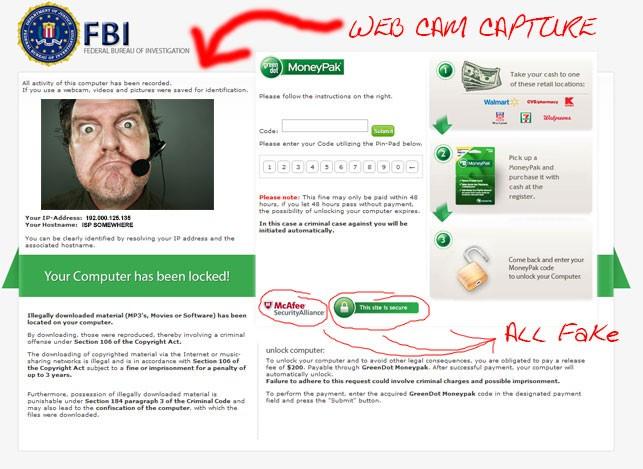 Picture of Moneypake, FBI Virus Ransomware