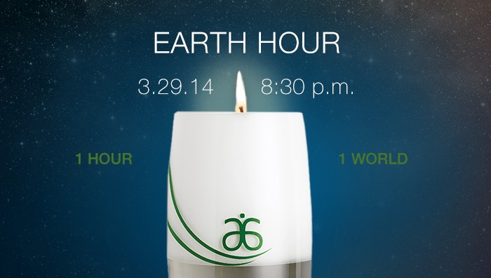 Earth Hour on March 29, 2014