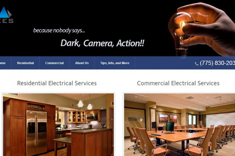 A website screenshot of enhancedelectrical.net created by Credo Technology Group, LLC