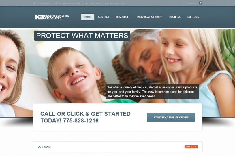A website screenshot of healthbenfits.net created by Credo Technology Group, LLC