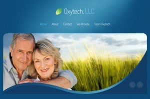 Website screenshot of oxytechreno.com created by Credo Technology Group, LLC