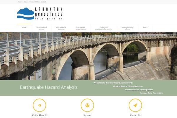 Website Design in Reno for Lahontan Geoscience, Inc